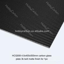 3K UD-Epoxydharz-Vollcarbonfaserblatt, CNC-Schneideservice für FPV