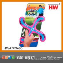Venta al por mayor caliente de los cabritos al aire libre X modelo de juguete de plástico Frisbee
