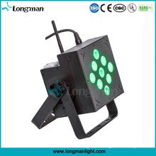 Indoor 9X10W RGBW DMX Batteriebetriebene LED Disco PAR Leuchten