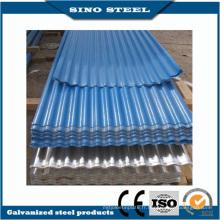 Enduit de couleur RAL ondulé toiture tôle d'acier avec CE approuvé