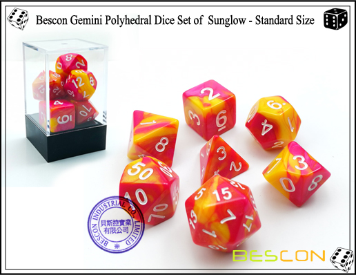 Bescon Gemini Dice Set of Sunglow-1