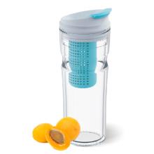 Everich 16OZ Double Wall tritan water fruit infuser bottle With Flip Lid
