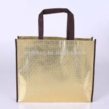 Eco que recicl o mantimento não tecido laminado metálico da sacola da compra do saco para a promoção, supermercado