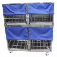 Customizable Good Quality Cat Metal Cages 304 Stainless Veterinary Cages Pet Cages Carriers & Houses Eco-friendly