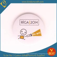 Riga Mega-Event Souvenir Tin Button Badge in Cute Style