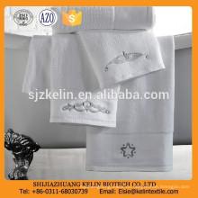 Toalla de hotel 100% algodón súper suave y lisa con fantasía bordada