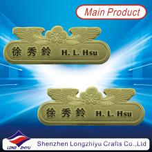 Insignias de oro personalizadas para el personal, insignias de nombre del personal