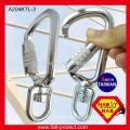 A204-KTL Mouser com ganchos de segurança em alumínio giratório com triplo haste
