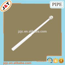 Caliente ventas blanco tubo de ducha de hierro telescópico