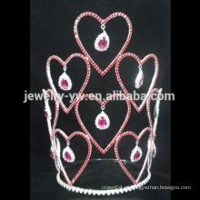 Venda Por Atacado senhoras beleza coroa nupcial coroa tiaras com strass, coroa pageant personalizado