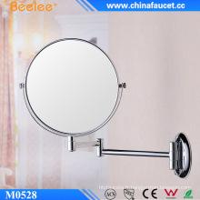 Miroir de maquillage concave 3X grossissant rond en métal