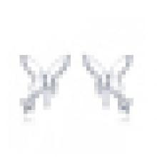 Boucles d'oreilles papillon zircon cubique en argent sterling 925 pour femme