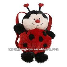 Fábrica al por mayor de animales en forma de mochila mochila mochila Ladybug