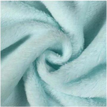 Flanela de lã de flanela escovada de dois lados para item de inverno