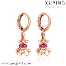 26891- Xuping Young Lady Jewellery Lovely Bear Pendientes