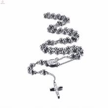 Розарий серебро кельтский крест подвеска из нержавеющей стали ожерелье