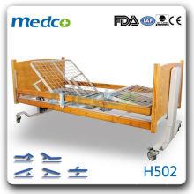 MED-H502 Quente! Cinco funções cama paciente hospitalar elétrico com rodas