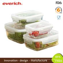 Everich Square Borosilicate, microondas, atacado, vidro, congelado, almoço, caixa