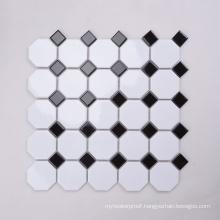 Popular in South Africa Mosaic Bathroom Floor Tile Black White