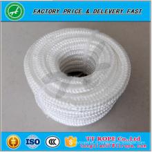haute qualité couleur blanche 16 brins diamant tressé corde de polyester