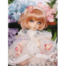 BJD ouro claro / rosa / roxo / peruca curta preta NO.99 SD / MSD / YSD