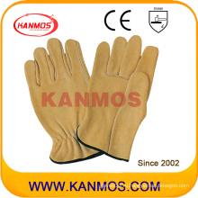 Промышленная безопасность Желтые Воловья кожа Драйвер рабочие перчатки работы (12204)