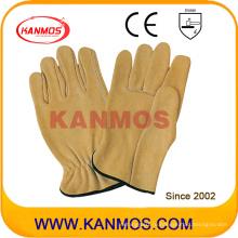 Промышленная безопасность Желтая напольная кожаная рабочая перчатка (12204)