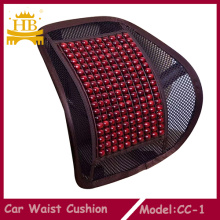 Woodbead and Mesh Car Backrest Waist Cushion