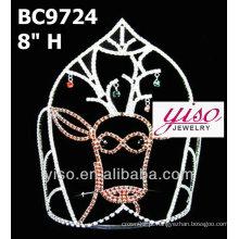 Tiara de cristal elegante