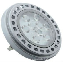 AR111, 9 HIGH POWER LEDs, 11W, 700lm (3000k) Silber-Finish