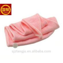 Toalla de pelo de bambú con mejores ventas, toalla de pelo coloreada, toalla de pelo sólida