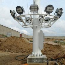 hot dip galvanized 15m-30m high mast light pole high mast lighting tower for stadium lighting