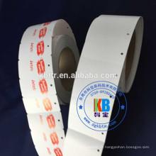 accepter commande sur mesure vêtement adhésif chaîne carton blanc vêtement prix papier kraft étiquette volante