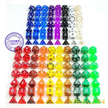 18 Different Colors Assorted Colored Polyhedral RPG Dice Set 126pcs