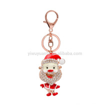 China factory sale cheapest metal father christmas design keychain