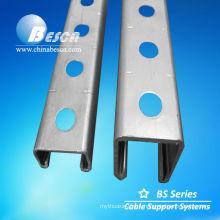 Galvanised Strut Steel Channel Soportes Rieles UL cUL SGS ISO CE