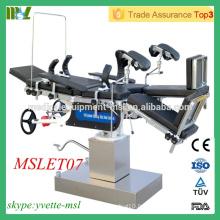 MSLET07M Table d'opération la plus vendue Table d'opération multi-usages haute technologie (tête contrôlée)