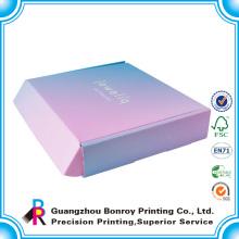El logotipo personalizado del diseño imprimió la caja de envío corrugada rígida, caja del poste
