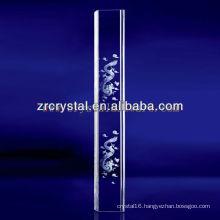 K9 3D Laser Dragon Etched Crystal with Pillar Shape