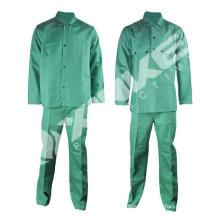 Pass EN11611 Green flame resistant welding suit for America Market