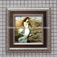 Shabby enmarcó la pintura al óleo desnuda atractiva de la mujer