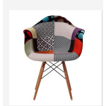 patch work fabric cover single sofa chair in coffee shop