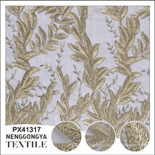 China factory Designer embroidery tulle polyester microfiber fabric