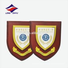 Top school custom logo wooden award plaque