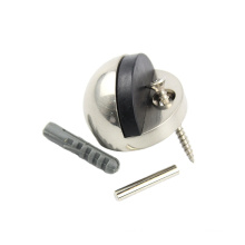 Solid rubber Zinc Alloy Wall Mounted Satin Nickel Round Ball stainless steel door stopper