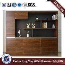 Aluminum Glass Doors Office Bookcase Modern Melamine Office Furniture (HX-6M260)