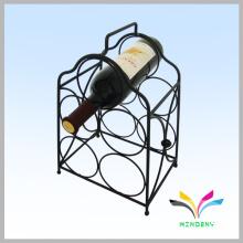 Diseño de encargo en polvo cubierto de pantalla metálica red wine rack