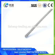 6x19 Cuerda de alambre de acero inoxidable Aisi 304