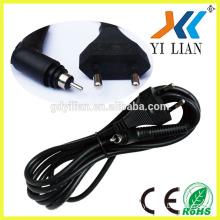2pin eu plug 16A/250V electric welding machines VDE standard AC Europe power plug power cord for hair drier
