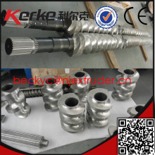 Co-rotating parallel twin screw extruder segment